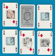Collectible advertising playing cards. Avalon,by a Inveresk,